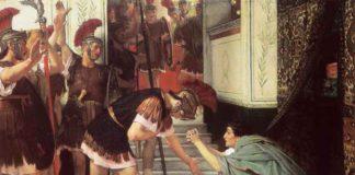 Proclamació de Claudi emperador. Pintura de Lawrence Alma-Tadema de 1867. Foto Wikimedia Commons