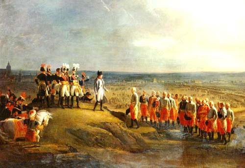 Napoleó accepta la rendició del general Mack i elsaustríacs a Ulm el 20 d'octubre de 1805. Foto: Wikimedia Commons