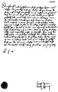 Carta de Copèrnic dirigida a Albert de Prússia el 1541 amb consells mèdics, en alemany.