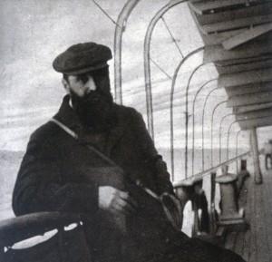 Theodor Herzl al vaixell que el portaria a Egipte, 1903.