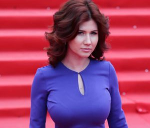 Former Russian spy Anna Chapman arrives for the closing ceremony of the 36th Moscow International Film Festival, in Moscow, Russia, 28 June 2014. EPA/SERGEI ILNITSKY /LANDOV