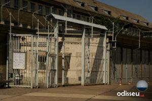 Entrada a l'antiga Hohenschönhausen (presó central de la Stasi), a Berlín.