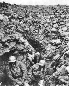 Soldats francesos a la batalla de Verdun el 1916. (Font: wikimedia)