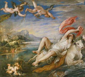 Ticià va influir en els artistes posteriors. Aquesta obra és una còpia feta per Rubens el 1628 de l'obra de Ticià. Actualment El Rapte d'Europa de Ticià es troba al museu Isabella Stewart Gardner Museum de Boston, mentre que aquest es troba al Prado de Madrid. Foto: Wikimedia Commons, domini públic