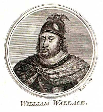 William Wallace, alies el Braveheart de la pel·lícula de Mel Gipson. El cavaller escocès líder de la lluita contra els anglesos va morir el 1305, i al reina Elisabet no trepitjaria sol anglès fins al 1308. Per tant, la relació que insinua la pel·lícula, aprofundint en la imatge homosexual d'Eduard II, és mentida. Un anacronisme que no es va poder produir mai, per l'edat d'ella. Foto: Wikimedia Commons, Domini Públic